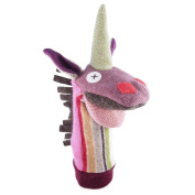 Cate and Levi 30cm Handmade Magic Unicorn Hand Puppet (Premium Reclaimed Wool), Colours Will Vary