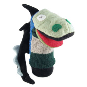 Cate and Levi 30cm Handmade Storybook Dragon Hand Puppet (Premium Reclaimed Wool), Colours Will Vary