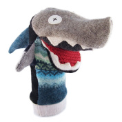 Cate and Levi 30cm Handmade Sea Shark Hand Puppet (Premium Reclaimed Wool), Colours Will Vary