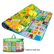 Kids Crawling 2 Side Play Mat Educational Game Soft Foam Picnic Carpet 200X180cm
