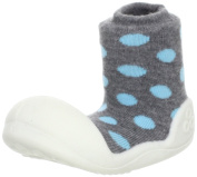 Attipas Polka Dot Grey baby First Walker shoes - Toddler shoes slippers Size - 3,5