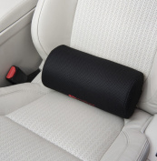 Posture Cushion - The Original Posture Cushion D-Shaped Lumbar Support Roll. Great For Improving Posture And Pain Relief. Helps Prevent Back Pain While Sitting In The Car Home And Office. Available With Breathable Black Mesh Cover And Wide Adjustable S ..