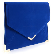 Wocharm (TM) Girls Suede Velvet Slim Envelope Clutch Womens Clutch Bag Ladies Clutch Purse Evening Bag