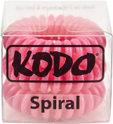 Kodo Spiral Raspberry Hair Bobble Pack of 3, Pain Free Hair Band, Reduces Split Ends by Kodo