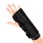 Advanced Wrist Support / Carpal Tunnel Splint / Black Wrist Brace for Immediate Pain Relief from Carpal Tunnel Syndrome, Wrist Pain, Sprains, RSI and Arthritis - NHS Use,Small,left hand