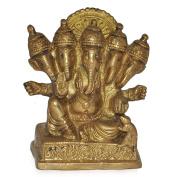 Five Headed Panchmukhi Ganesha Brass Statue/ Sculpture- Home Décor Gifts
