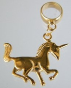3D Unicorn Charm - Compatible with Pandora or Troll.