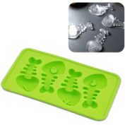 Fish Bone Mould Silicone Mould Ice Tool Chocolate Ice Mould Bar Lovely Freeze colour random Diy