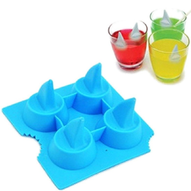 Shark Mould Silicone Mould Ice Tools Chocolate Ice Mould Bar Lovely Freeze colour random Diy