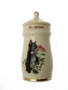 Lesley Anne Ivory Cats Spice Jar Marjoram GB369