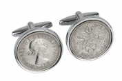 80th Birthday gift -1936 Sixpence Cufflinks- Ideal 80th Gift-100% satisfaction guarantee