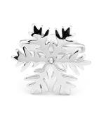 SAMGU Classic Cufflinks for Mens Jewellery Snowflake Design One Pair Colour silver
