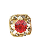 SAMGU Red Crystal Golden Square Mens Vintage Gift for Shirts Wedding Party gift Colour Gold & red