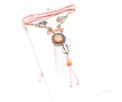 ch10 °F Anklet/Bracelet Ethnic Coral Round Hand Plaited Bead And Charm Set - Fashion Jewellery