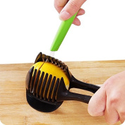 YIJIA Food Slicing Tool Holders, Tomato Slicer,lemon, Onion, Citrus and More ,Super Safe and Durable ABS Material