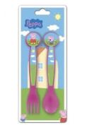Childrens Branded Cutlery - 2 Piece - PEPPA PIG