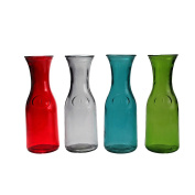 Coloured Glass Carafe 1L Assorted