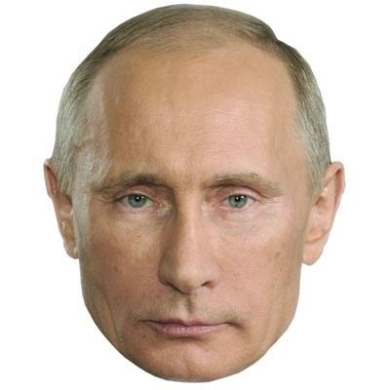 Vladimir Putin Mask, Cardboard Face and Fancy Dress Mask