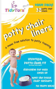 Tidy Tots Disposable Potty Chair Liners - Value Pack - 32 Liners