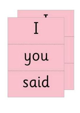 Read Write Inc. Phonics: Red Word Cards (Read Write Inc. Phonics)