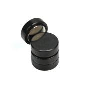 Pinzhi®1 Pair Men Women Round Shape Magnetic No Piercing Clip-on Stud Earrings Jewellery