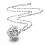 Eudora Harmony Ball Tree Of Love Pendant with Chain Necklace for Maternity Perfume Cage