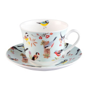 Roy Kirkham RSPB Birdsong Jumbo Breakfast Cup and Saucer - XRSPBBRB1100GBOXED