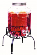 Rammento Vintage Beverage Glass Drink Dispenser available With Chalkboard With Stand