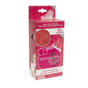 Spongeables 30 Plus Anti Cellulite Body Wash Infused Sponge with Pink Raspberry Lemonade Scent
