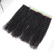 Xuchang Eecamail 100% Unprocessed 7a Brazilian Virgin Kinky Curly Human Hair Weaves 4 Bundles Mix Length Hair Extensions Deep Curly Natural Colour