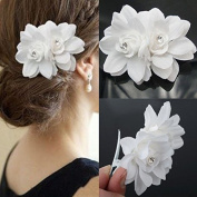 Akak Store New Beauty Women's Bridal Wedding Rhinestone Orchid Hair Clip Barrette Bridal Wedding Party Women Accessories
