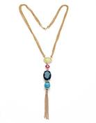Lvxuan 2016 Fashion Jewellery Elegant 18k Gold Plated Beaded Long Pendant Necklace Women