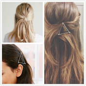 Akak Store Hollow Hoop Triangle Geometric Metal Hair Clip Bobby Pin Ponytail Holder Hair Accessories for Women and Girl