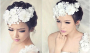 Malloom Chic Handmade Floral Lace Headpiece Hairpin for Party Wedding Bridal
