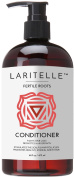 Laritelle Organic Conditioner 470ml   Fortifying, Strengthening & Rejuvenating   Stops Hair Shedding, Promotes New Hair Growth   Ayurvedic Herbs, Lavender, Ginger, Rosemary, Patchouli & Cloves   NO GMO, Sulphates, Gluten, Alcohol, Parabens, Phthalates