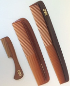 Unbreakable Tortoise Course/Fine comb - GBS moustache comb - GBS Dressing comb - Combo!