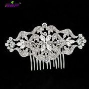SEP Women Hairpins Clear Rhinestone Crystals Hair Combs Bridal Wedding Hair Accessories Jewellery FA5044CLE