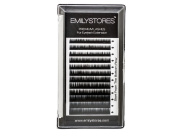 EMILYSTORES Lash Eyebrow Extensions Colour Black Thickness 0.10 mm Length 5/6/7/8MM Mixed Sizes One Tray