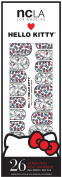NCLA Designer Nail Wraps - Hello Kitty Spring Bows - Includes 29 Ultra Thin Self-Adhesive Wraps and Nail File