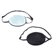 KLOUD City®Pack of 2 Elastic Silk Eye Patch for Adults Lazy Eye Amblyopia Strabismus