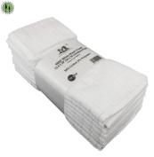 10 PC White Wash Towels 33cm x 80cm Washable 600D Cotton Polyester