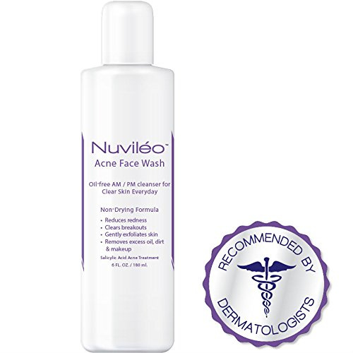 Nuviléo Acne Face Wash - Acne Treatment - 2% Salicylic Acid - Hormonal  Acne, Teen Acne, Acne Vulgaris, Cystic Acne, Acne Scars, Natural Facial