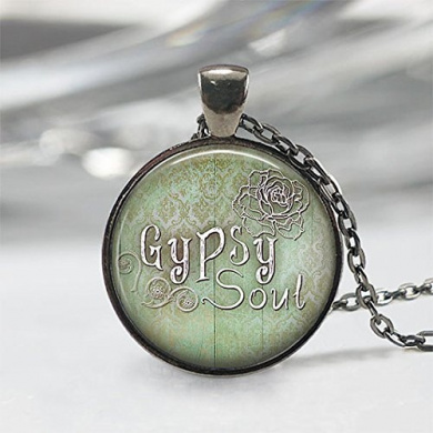 Gypsy Soul necklace, Gypsy Soul pendant, Gypsy necklace, Gypsy pendant, Gypsy jewellery, boho necklace,