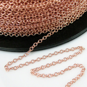 Rose Gold plated 925 Sterling Silver Chain - Strong Cable Chain - Unfinished Bulk Chain - 2mm