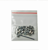 25 Pack Pin Keepers Screws set in for easy use Pin Locks Backs