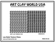 Art Clay World USA Low Relief Texture Airwaves - 1 Pc.