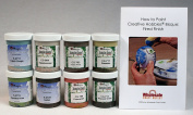Mayco CGSKIT-1 Crystal Glaze Kit for Ceramics - Set of 8 Best Selling Colours in 120ml Jars with Free How to Paint Ceramics Booklet