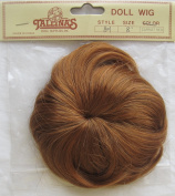TALLINA'S Craft DOLL Hair WIG Style # 801 Fits SIZE 20cm Colour CARROT RED