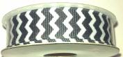 1.6cm Grosgrain Chevron Stripe Ribbon - 5yards