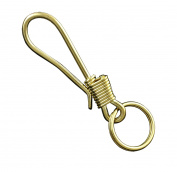 Sollid Brass Biker Trucker Keychain Holder Wallet chain Fob Hook Clip